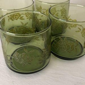 Set of 4 Vintage Glasses